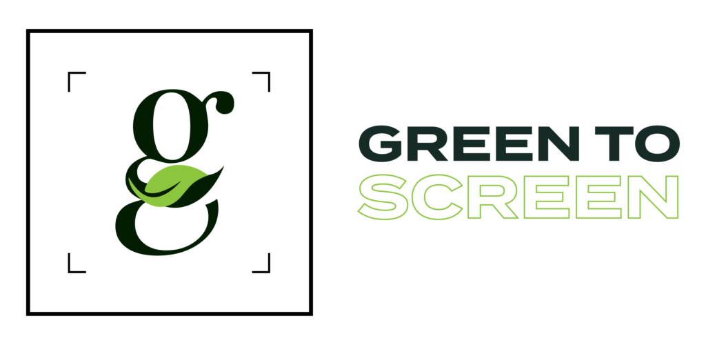 green to screen brand logo